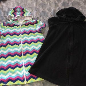 🔴 OP coverup/towel zip hooded dress
